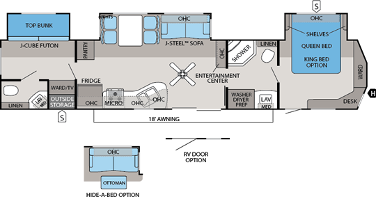 Jay Flight DST Floorplans