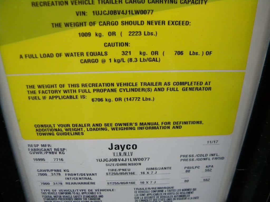 NEW 2018 JAYCO LW 379 DBFS NORTH POINT